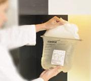 Parenteral Nutrition - Medical staffer holding bag of medicine